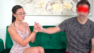 Sexy Asian chick Madi Laine takes money for wild fucking in POV