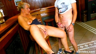 Naughty mature drops her clothes to be fucked by a horny man