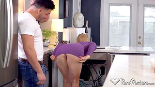 Hot muscular plumber doesn't mind gender titillating housewife Addie Andrews