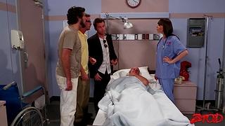 Hot ass nurse Dana Dearmond drops her smalls to shepherd a patient