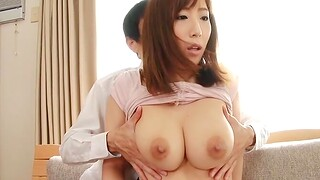 Naughty maid Ayana Rina teases with her ass and gets pleasured