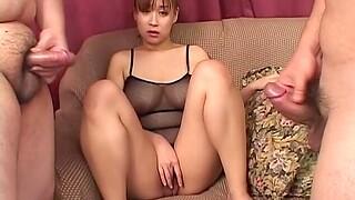 Flimsy Japanese MILF Monami Sakura enjoys getting fucked by strangers