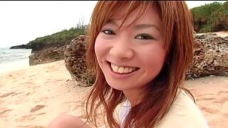 Outdoors amateur video of adorable Aki Katase object fucked abiding