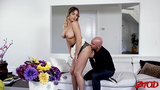 Hardcore fucking in the living-room with cum in brashness for Blair Williams