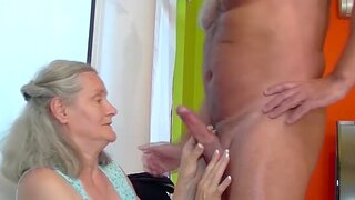 Big natural breast 72 length of existence elderly grandma gets rough and deep fucked