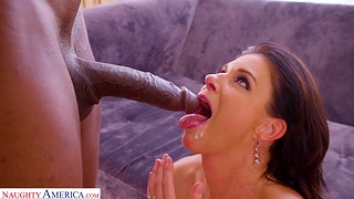 Interracial fucking on good terms with ill-tempered housewife India Summer