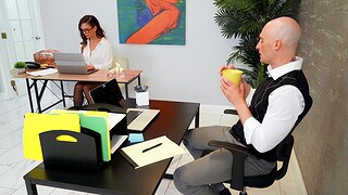 Passionate fucking essentially the office table with gorgeous Cherie Deville