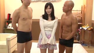 Japanese hottie drops on say no to hands and knees to be fucked by 2 guys