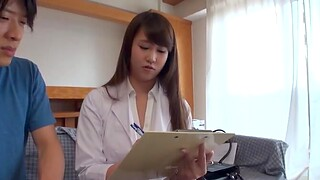 Clothed sex surrounding missionary close by a saleable Japanese nurse close by on the level tits
