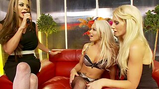 Poofter threesome with hot Linsey Mckenzie and Sammy Jayne
