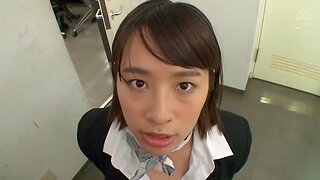 POV video with Japanese girl being fucked in the office - Haruna Hana