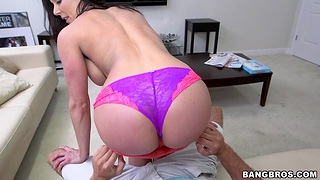 Busty chick Kendra Lust takes a stiff dick in her tight pussy