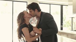 Fake tittied babe Pristine Edge is host love with her boyfriend